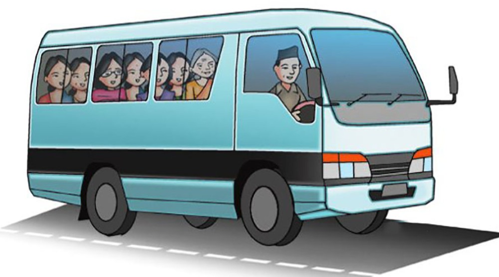 सार्वजनिक यातायात भाडामात्र बढी : 'न दूरी कायम छ न स्यानिटाइजरको व्यवस्था नै !'
